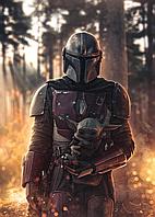 Картина GeekLand Звёздные войны Мандалорец Мандалороец и Йода Star Wars The Mandalorian 40x60 SWM 11.01
