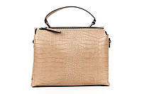 Итальянская женская сумка из натуральной кожи. Цвет: Тауп, фото 1