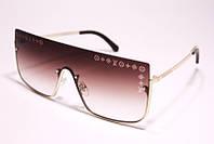 Женские солнцезащитные очкиLouis Vuitton 5023 C2 маска коричневые с градиентом