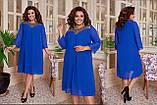 Повітряне жіноча сукня вільного крою Шифон Розмір 50 52 54 56 58 60 В наявності 4 кольори, фото 8