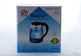 Чайник Domotec MS 8210 Black стекло