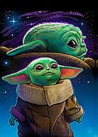 Картина GeekLand Звёздные войны Мандалорец Маленький Йода космос Star Wars The Mandalorian 40x60 SWM 11.02