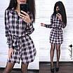 Платье-туника в клетку 90 см , фото 4