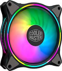 Набор вентиляторов Cooler Master MasterFan MF120 Halo 3in1 ARGB Sync+Wired ARGB Controller (MFL-B2DN-183PA-R1), 120х120х25 мм, 4pin, черный, фото 3