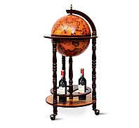 Глобус бар напольный деревянный коричневый на 3-х ножках