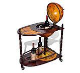 Глобус бар напольный со столиком из дерева, фото 4