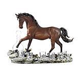 """Подарочный коньячный набор """"Конь"""" стеклянный графин и 6 стопок на подставке из полистоуна, фото 5"""