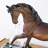 """Подарочный коньячный набор """"Конь"""" стеклянный графин и 6 стопок на подставке из полистоуна, фото 4"""