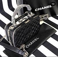 Женская сумка Chanel в стиле, женская сумка черная Шанель