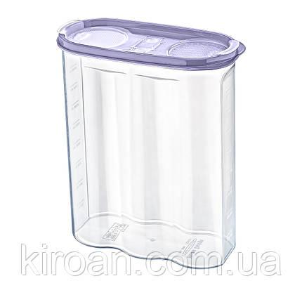 Емкость для хранения сыпучих продуктов 2,4 л Irak Plastik (Турция)  17 x 24,5 x 7 см, фото 2