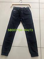Черные котоновые брюки джоггеры для мальчиков подростков SEAGULL,разм 134-164 см