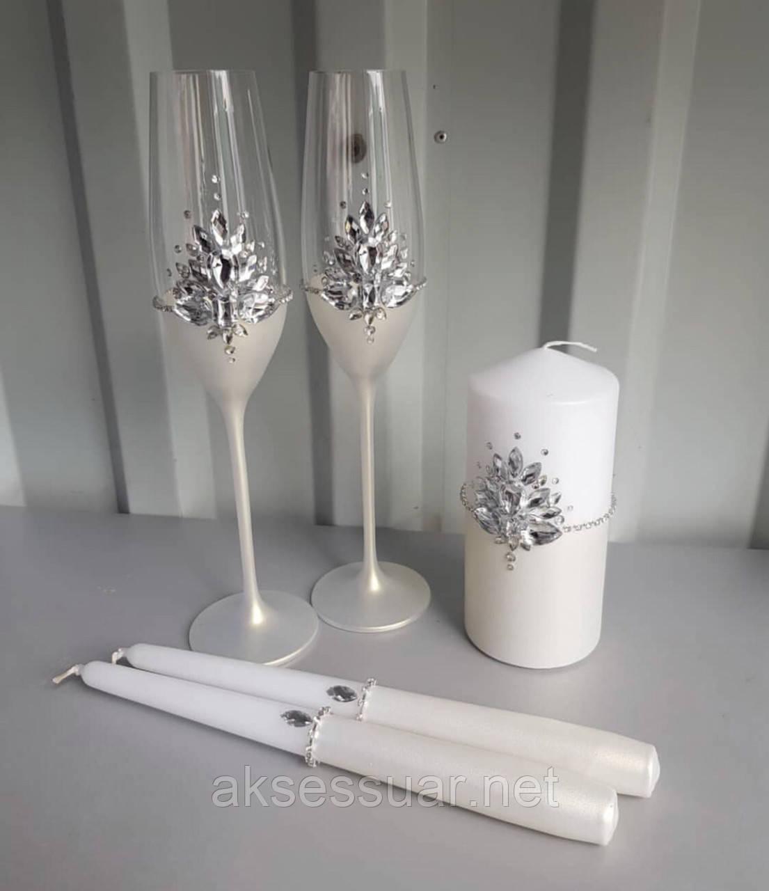 Набор свадебные бокалы и свечи