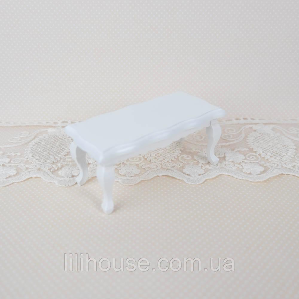 1:12 Журнальный столик кукольный 9*4.5*4 см Белый