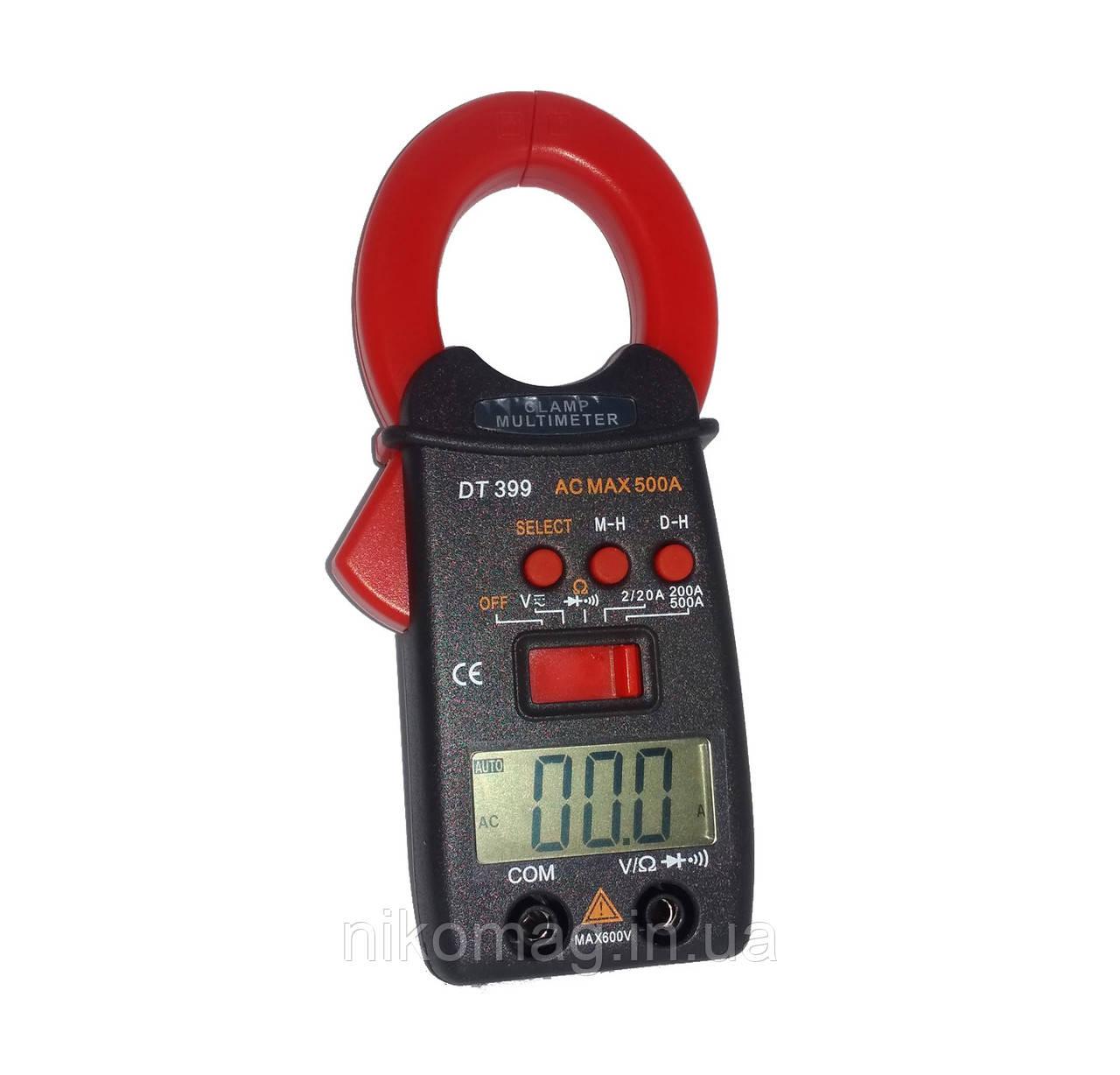 Карманные токовые клещи Clamp Multimeter DT399 со щупами
