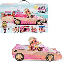 Машина для кукол ЛОЛ Сюрприз! кабриолет L.O.L. Surprise! Car-Pool Coupe with Exclusive Doll