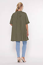 Асимметричная женская блузка Plus size, размер от 52 до 58, фото 3