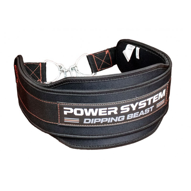 Пояс для отягощений Power System Dipping Beast PS-3860 Black/Red