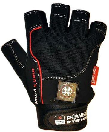 Перчатки для фитнеса и тяжелой атлетики Power System Man's Power PS-2580 M Black
