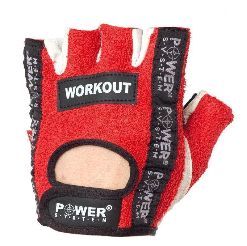 Перчатки для фитнеса и тяжелой атлетики Power System Workout PS-2200 XS Red