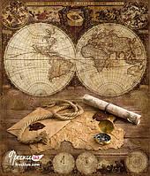 """Фотообои """"Старинная карта мира"""""""