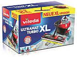 Набор для уборки Vileda Ultramat Turbo XL (швабра и ведро с отжимом), фото 3