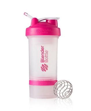 Шейкер спортивный BlenderBottle ProStak с шариком 650 мл Прозрачный-Розовый