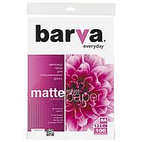 Фотобумага Barva, матовая, А4, 125 г/м2, 100 листов (IP-AE125-318)