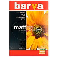 Фотобумага Barva, матовая, А4, 90 г/м2, 100 листов (IP-A090-001)