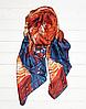 """Шелковый шарф Fashion """"Звездная ночь"""" (Ван Гог) 190*100 см терракотовый"""