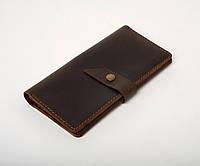 Кожаное портмоне «Promo Brown» мужское коричневое (19,5x10 см) ручной работы от pan Krepko