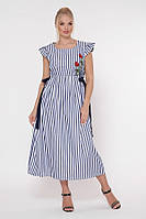 Красивое женское платье большого размера в полоску, размер от 52 до 58