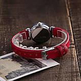 Женские наручные часы с красным ремешком код 536, фото 3