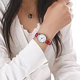 Женские наручные часы с красным ремешком код 536, фото 5