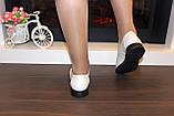 Туфли женские бежевые натуральная кожа Т018, фото 7