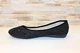 Балетки туфли женские черные Т026, фото 2