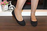 Балетки туфли женские черные Т026, фото 5