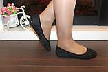 Балетки туфли женские черные Т026, фото 6