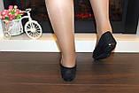 Балетки туфли женские черные Т026, фото 7