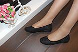 Балетки туфли женские черные Т026, фото 8