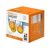Фотобумага ColorWay, глянцевая, А6 (10х15), 260 г/м2, 500 листов (PG2605004R)