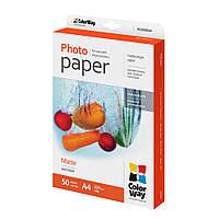 Фотобумага ColorWay, матовая, А4, 220 г/м2, 50 листов (PM220050А4)