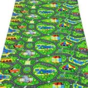 Детский теплоизоляционный развивающий игровой коврик  Городок 1500×1100×8мм