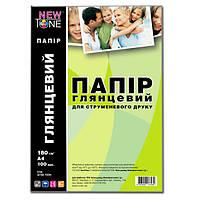Фотобумага NewTone, глянцевая, А4, 180 г/м2, 100 листов (G180.100N)
