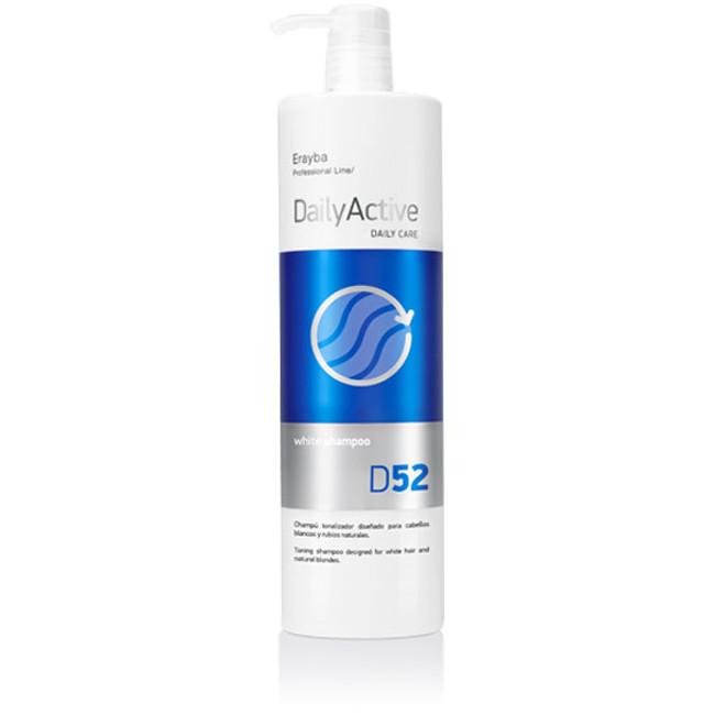 Шампунь для холодных оттенков блонд Erayba D52 White Factor Shampoo 1000 мл