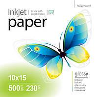 Фотобумага PrintPro, глянцевая, А6 (10х15), 230 г/м2, 500 листов (PGE2305004R)