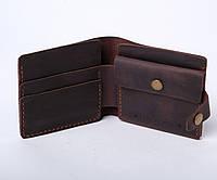 Кожаный кошелек «Gazda Brown» мужской Коричневый (11x9,5 см) ручной работы от pan Krepko