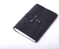Кожаный блокнот А5 «Nota5 Blue» унисекс Синий (21x15 см) ручной работы от pan Krepko