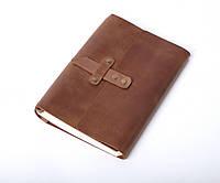 Кожаный блокнот А5 «Nota5 Olive» женский Коричневый (21x15 см) ручной работы от pan Krepko