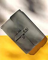 Кожаный блокнот А5 «Nota5 Gray» унисекс Серый (21x15 см) ручной работы от pan Krepko