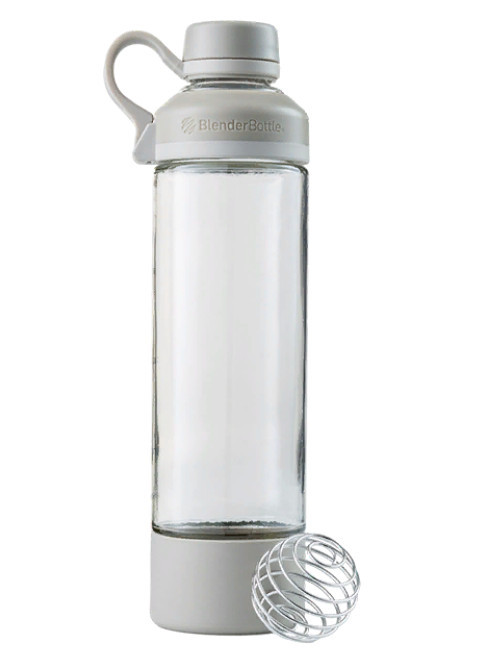 Спортивная бутылка-шейкер BlenderBottle Mantra Glass Grey (СКЛО) 600мл (ORIGINAL)